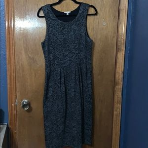 Anthropologie slightly pleated floral dress